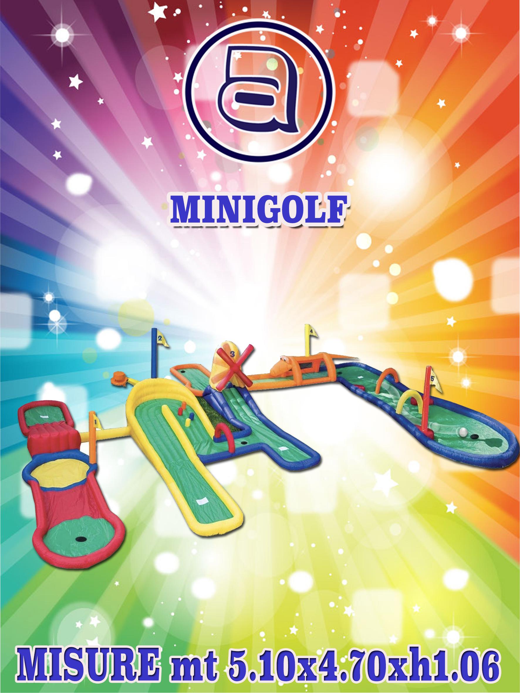 minigolf-gonfiabile